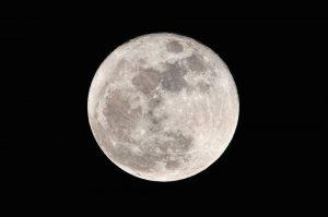 お月さんの写真